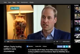 Im Interview: Prinz William über die Trophäenjagd in Afrika. Foto: Screenshot msn.com